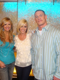 Nancy O'Dell, Jenny McCarthy, and WWE star John Cena