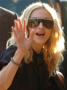 Madonna arrives for the screening of her documentary, &#8216;I Am Because We Are&#8217;