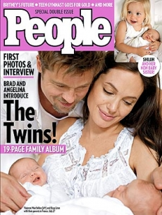 The first photo of Brad and Angelina's twins Knox Leon and Vivienne Marcheline