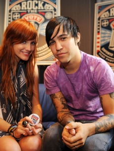 Ashlee Simpson and Pete Wentz at a Rock The Vote party held at Chicago's Hard Rock Hotel