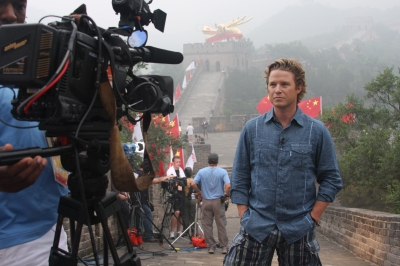 Billy shoots at the Great Wall with 'Today'