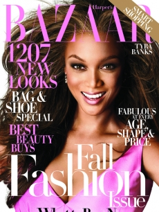 Tyra Banks on the cover of Harper's Bazaar