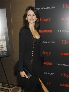 Penelope Cruz attends a Cinema Society screening of 'Elegy' at the Tribeca Grand Hotel