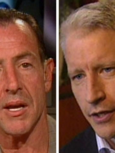 Michael Lohan and Anderson Cooper