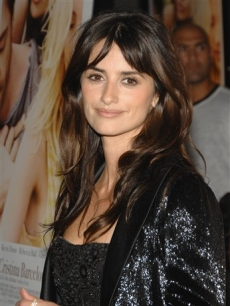Penelope Cruz in black at a 'Vicky Cristina Barcelona' screening