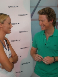 Amanda Beard makes Billy Bush smile