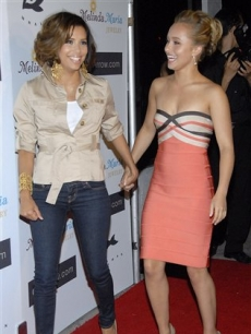 Eva Longoria and Hayden Panettiere at the Whaleman Foundation Benefit in Los Angeles