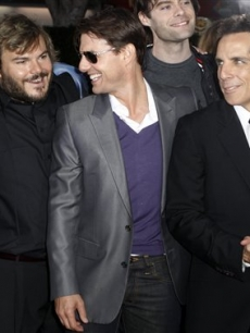 Brandon T. Jackson, Jack Black, Tom Cruise, Bill Hader, Ben Stiller, and Matthew McConaughey at 'Tropic Thunder'