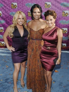 Sabrina Bryan, Kiely Williams and Adrienne Bailon  at the'The Cheetah Girls One World' premiere