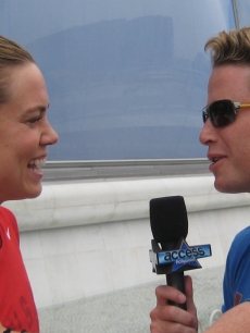 Natalie Coughlin and Billy Bush