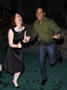'The Office's' Kate Flannery and Oscar Nunez attend the Border Governor's Conference Gala