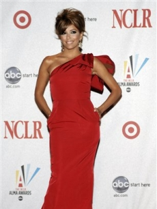 Eva Longoria poses backstage at the 2008 ALMA Awards