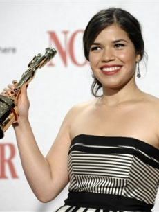 America Ferrera wins a Special Achievement award at the 2008 ALMA Awards for 'Ugly Betty'