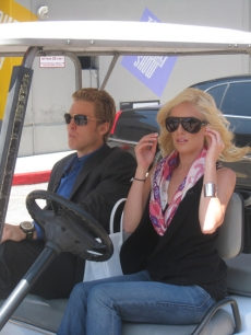 Heidi Montag and Spencer Pratt take a ride on the NBC lot with Access Hollywood
