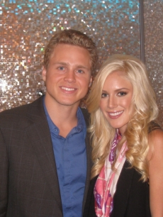Heidi Montag and Spencer Pratt stop by Access Hollywood