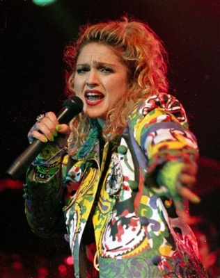 Madonna performs during the opening of The Virgin Tour in Seattle. (1985)