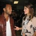 Maria at the DNC - my pal john legend and i spoke for access backstage at the dnc. 