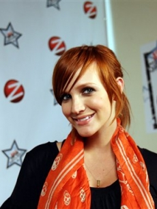 Ashlee Simpson at a Toronto area Zellers store  promoting her new clothing line