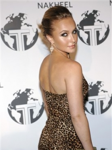 Hayden Panettiere celebrates at a party for The Trump International Hotel & Tower Dubai