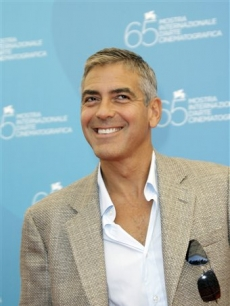 George Clooney at the photo call of the movie 'Burn After Reading' at the Venice Film Festival
