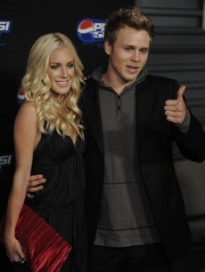 Heidi Montag and Spencer Pratt arrive for the Pepsi 500 Running Wide Open event in Los Angeles