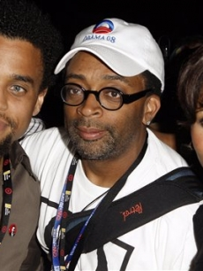 Actor Michael Ealy, left, director Spike Lee, center, and actress Kerry Washington pose together at The Creative Coalition Gala Benefit in Denver, Wednesday, Aug. 27, 2008.