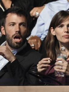 Actors Ben Affleck and Jennifer Garner are seen at the Democratic National Convention in Denver, Wednesday, Aug. 27, 2008