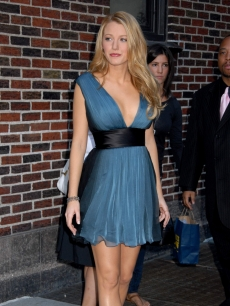 Blake Lively makes a fashionable appearance outside 'The Late Show with David Letterman'