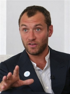Jude Law speaks in Kabul, Afghanistan, for the upcoming Peace Day on Sept. 21