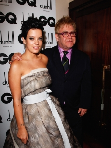 Lily Allen and Elton John at the GQ Men of the Year Awards in London