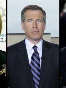 Katie Couric, Brian Williams and Charles Gibson