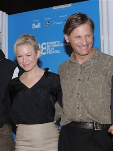 Jeremy Irons, Renee Zellweger, Viggo Mortensen and Ed Harris participate in a press conference for the 'Appaloosa' during the Toronto Film Festival