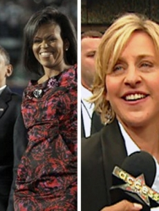Michelle & Barack Obama and Ellen DeGeneres