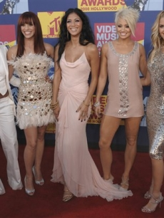 The Pussycat Dolls strike a pose for the VMA photographers