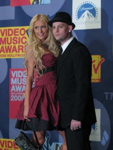 Paris Hilton and boyfriend Benji Madden at the VMAs