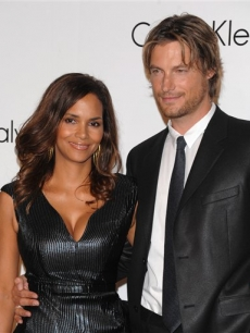 Halle Berry and Gabriel Aubry at the Calvin Klein 40th anniversary party during Fashion Week