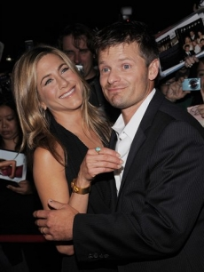 Jennifer Aniston and Steve Zahn at the premiere of 'Management' at the Toronto International Film Festival
