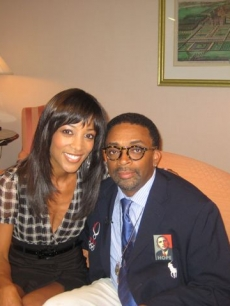 Shaun Robinson and Spike Lee at the Toronto Film Festival