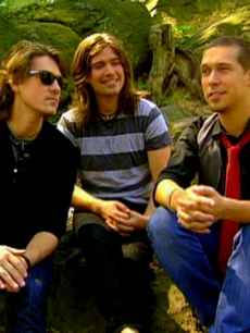 Taylor, Zac and Isaac Hanson, Sept. 2008