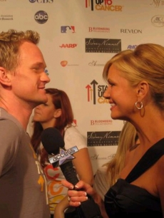 Nancy interviews Neil Patrick Harris at the 'Stand Up 2 Cancer' event