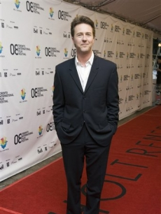 Ed Norton arrives for the gala screening of the film 'Pride and Glory,' Toronto