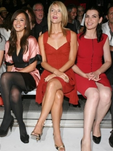 Jessica Alba, Claire Danes and Julianna Margulies at the Narciso Rodriguez show during Fashion Week