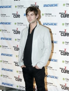 Chace Crawford arrives at Madison Square Garden in New York for the Stand Up For A Cure benefit