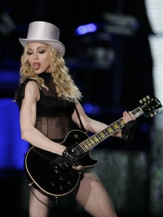 Madonna performs at Wembley Stadium 