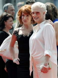 Kathy Griffin and and Sharon Gless arrive to the 2008 Creative Arts Emmys