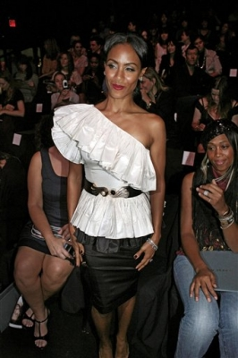 Jada Pinkett Smith at the spring 2009 Zac Posen show during Fashion Week in New York
