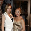 Lindsay Lohan and Hayden Panettiere at the NBCU Pre-Emmy party at Spago
