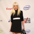 Christina Aguilera attends the Esquire House Hollywood Hills 'Rock The Vote' party
