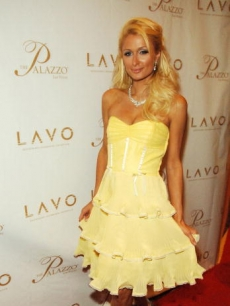Paris Hilton arrives at the Grand Opening of LAVO Restaurant and Nightclub at The Venetian Hotel and Casino Resort