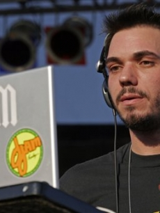 DJ AM performs at the T-Mobile Boulevard block party hours before being injured in a Learjet crash
